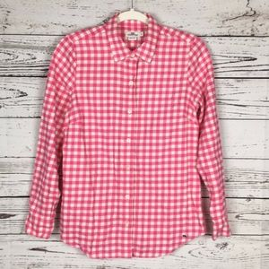 Vineyard Vines Pink Checkered Button Down Top